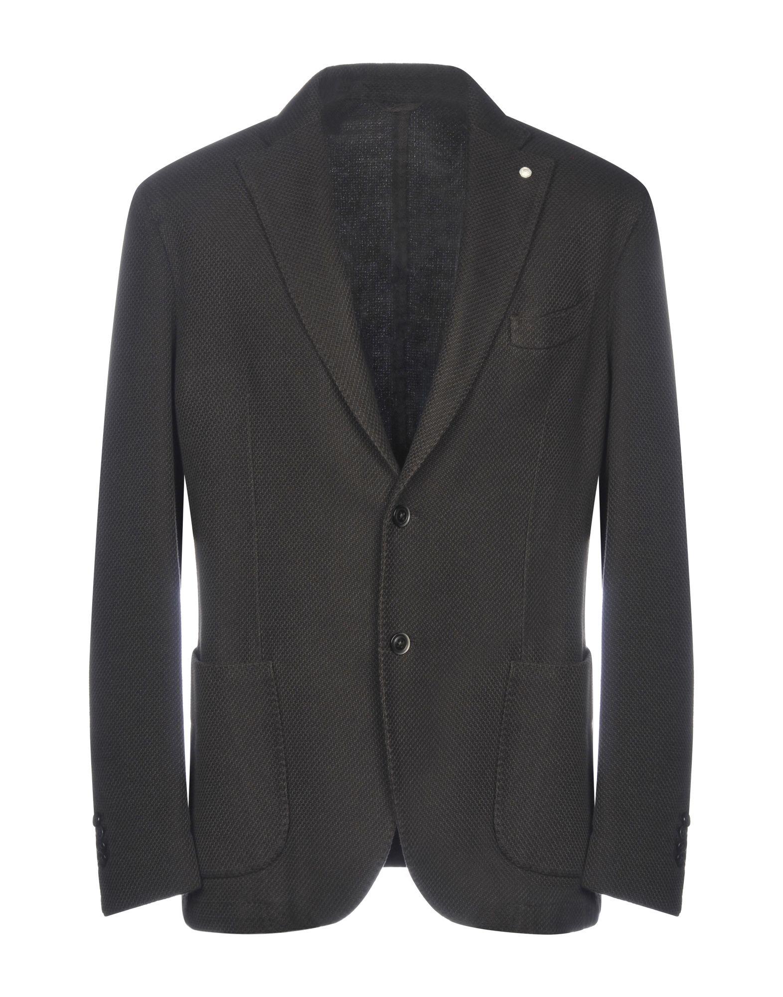 《期間限定セール中》LUIGI BIANCHI ROUGH メンズ テーラードジャケット ダークブラウン 58 コットン 100%
