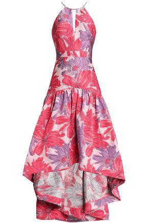 BADGLEY MISCHKA Asymmetric brocade gown