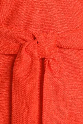 BADGLEY MISCHKA Belted woven midi dress