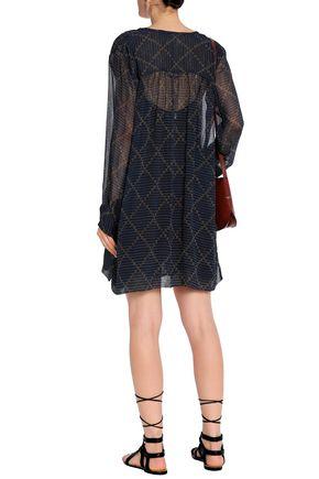 ISABEL MARANT ÉTOILE Printed crinkled georgette mini dress