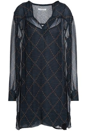 ISABEL MARANT ÉTOILE Printed crinkled georgette mini dress