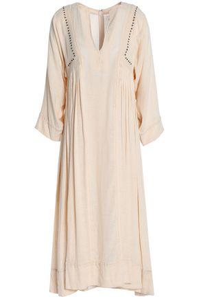 ISABEL MARANT ÉTOILE Studded embroidered gauze midi dress