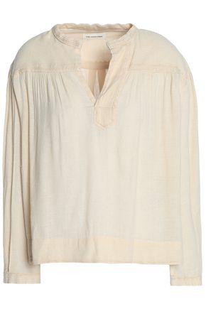 ISABEL MARANT ÉTOILE Embroidered cotton-blend gauze top