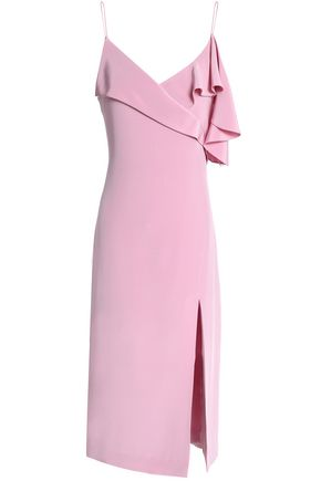 CUSHNIE ET OCHS Draped silk crepe de chine dress