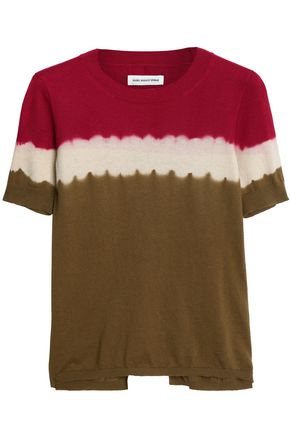 ISABEL MARANT ÉTOILE Tie-dyed cotton and cashmere-blend T-shirt