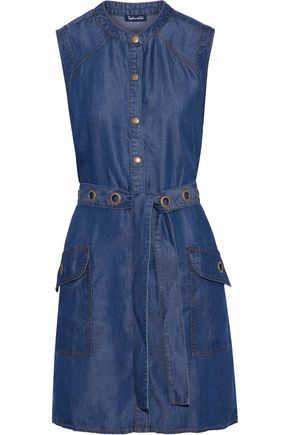SPLENDID Wilder belted Tencel-chambray mini dress
