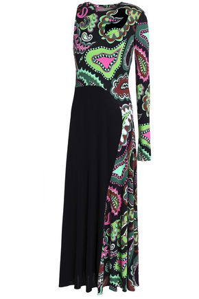 EMILIO PUCCI Cutout printed stretch-jersey midi dress