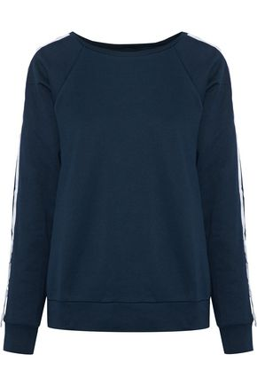 W118 by WALTER BAKER Parker embellished mélange cotton-blend jersey sweatshirt
