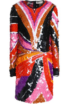 EMILIO PUCCI Sequined tulle mini dress