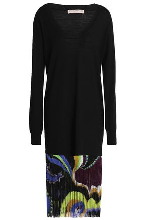 EMILIO PUCCI Printed fringed wool dress