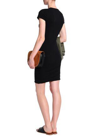 JAMES PERSE Cotton-blend jersey mini dress