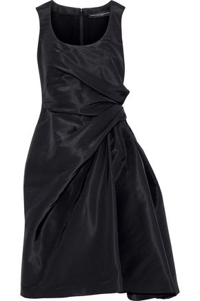 CAROLINA HERRERA Bow-embellished gathered silk-faille dress