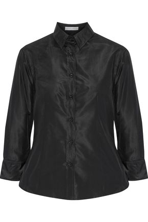 CAROLINA HERRERA Coated silk-satin shirt