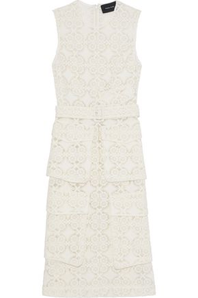 SIMONE ROCHA Belted embroidered cotton-blend organza dress