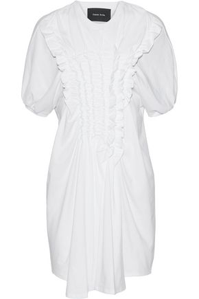 SIMONE ROCHA Ruffled cotton-jersey mini dress