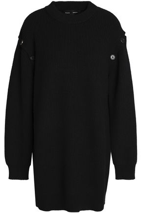 PROENZA SCHOULER Button-detailed ribbed wool-blend sweater