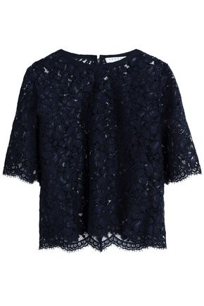 SANDRO Scalloped lace top
