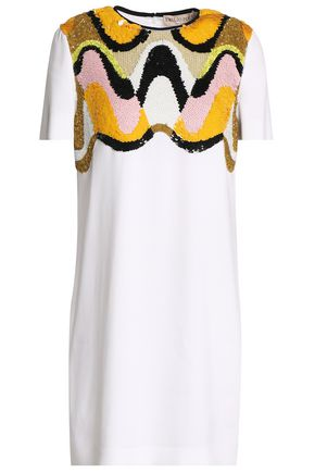 EMILIO PUCCI Sequin-embellished crepe mini dress