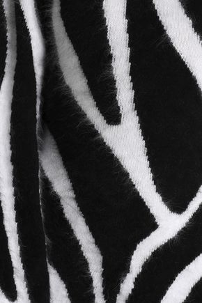 EMILIO PUCCI One-shoulder intarsia angora-blend midi dress