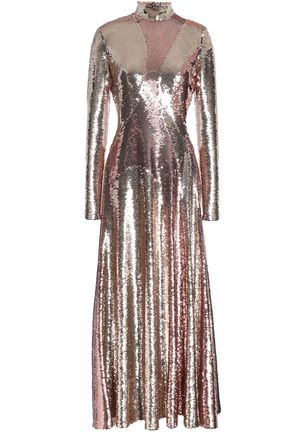 EMILIO PUCCI Open-back sequined silk-blend chiffon maxi dress