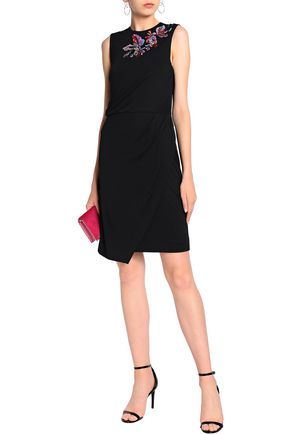 EMILIO PUCCI Embellished draped stretch-jersey dress