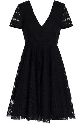 SANDRO Flared lace mini dress