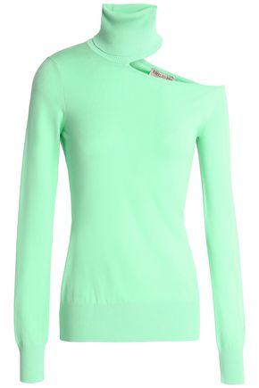 EMILIO PUCCI Cutout stretch-knit turtleneck sweater