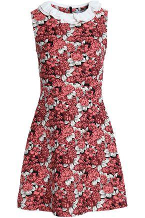 SANDRO Ruffle-trimmed brocade mini dress