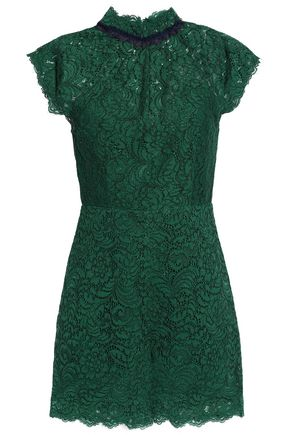 SANDRO Raquel cotton-blend corded lace playsuit