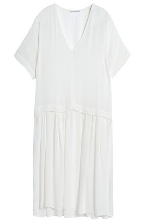 JAMES PERSE Pleated gauze midi dress