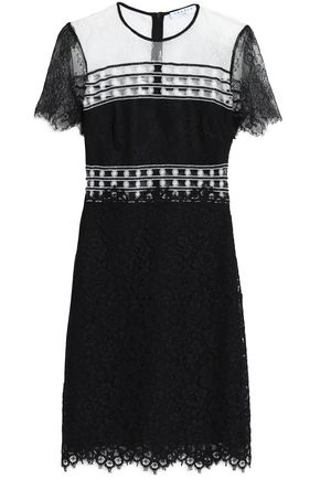 SANDRO Two-tone lace mini dress