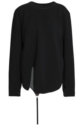 PROENZA SCHOULER Zip-detailed jersey sweatshirt