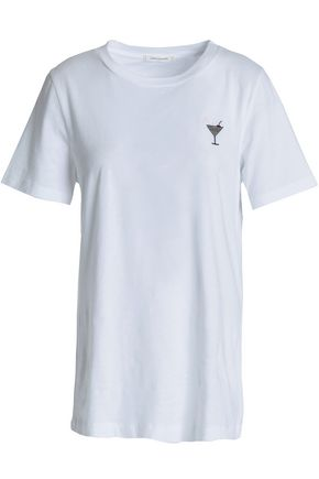 CHINTI AND PARKER Embroidered cotton-jersey T-shirt