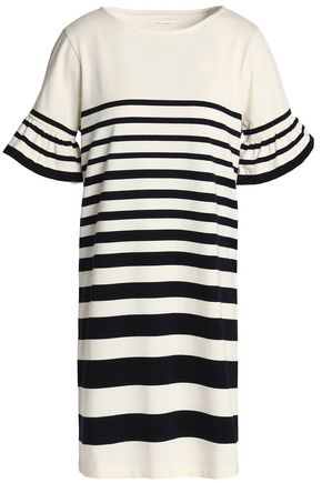 CHINTI AND PARKER Striped cotton mini dress