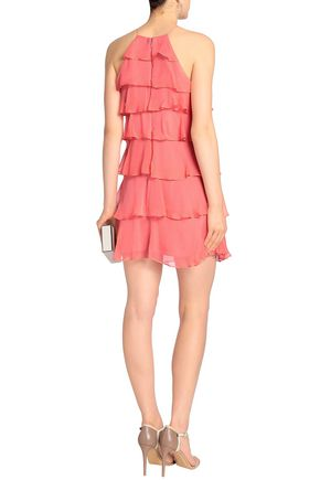 BAILEY 44 Tiered silk-georgette mini dress