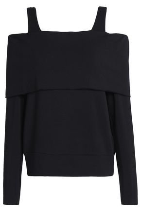 BAILEY 44 Cold-shoulder stretch-modal top