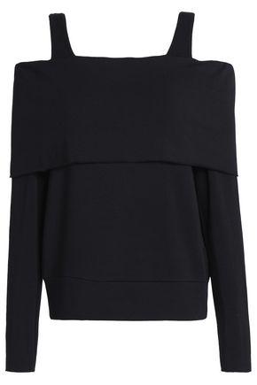 BAILEY 44 Cold-shoulder stretch-modal fleece top