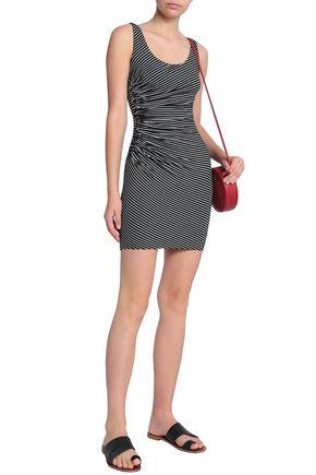 b985838681c BAILEY 44 Ruched striped jersey mini dress