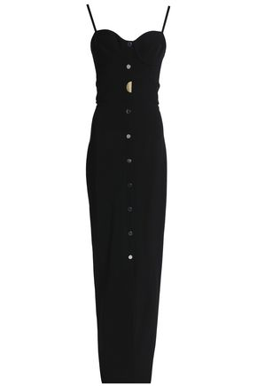 CUSHNIE ET OCHS Embellished stretch-crepe maxi dress