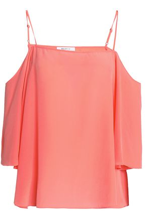 BAILEY 44 Moonlight Walk cold-shoulder silk crepe de chine top
