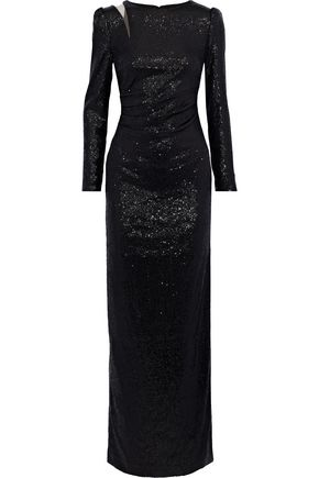 RACHEL ZOE Alice tulle-paneled sequined chiffon gown