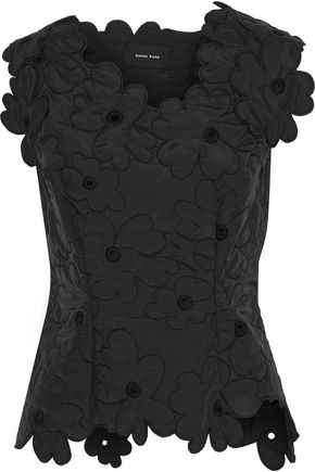 SIMONE ROCHA Eyelet-embellished broderie anglaise shell top