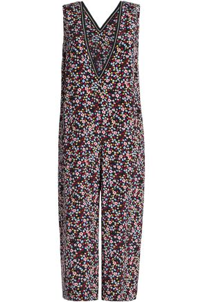 MOTHER OF PEARL Emeline floral-print cropped silk jumpsuit