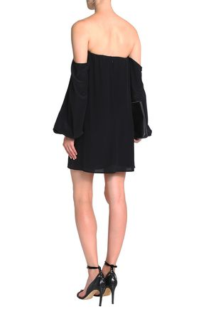 BAILEY 44 Off-the-shoulder silk mini dress