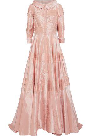 CAROLINA HERRERA Pleated taffeta gown