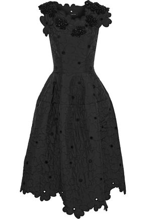 SIMONE ROCHA Embellished shell midi dress