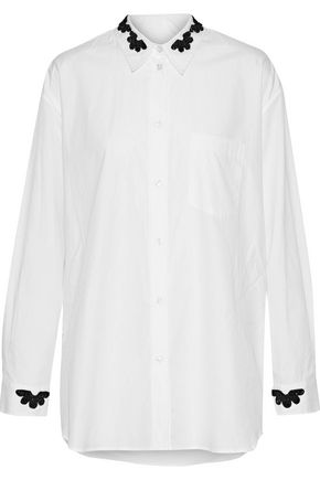 SIMONE ROCHA Embellished cotton shirt