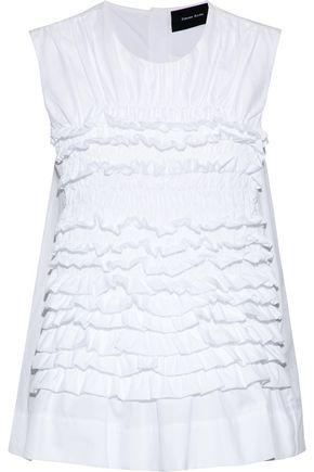 SIMONE ROCHA Ruffled cotton-poplin top