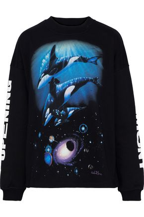 OPENING CEREMONY Printed French cotton-terry sweatshirt