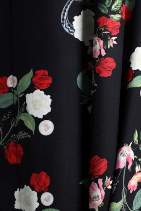 MOTHER OF PEARL Floral-print silk satin-crepe midi dress